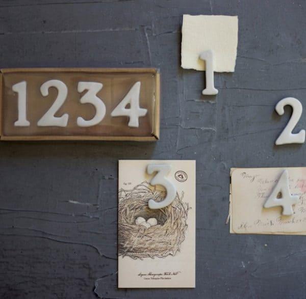 Blog - 2015 Holiday Gift Guide - Ceramic number push pins, thumbtacks, tacks for our bulletin board
