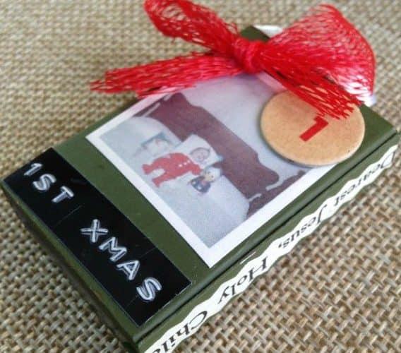 Matchbox-Advent-Calendar-with-family-photos-vintage-ephemera-and-other-scraps-DuctTapeAndDenim.com SQUARE