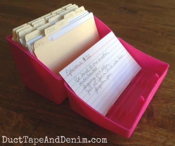 My Scripture memory box | DuctTapeAndDenim.com