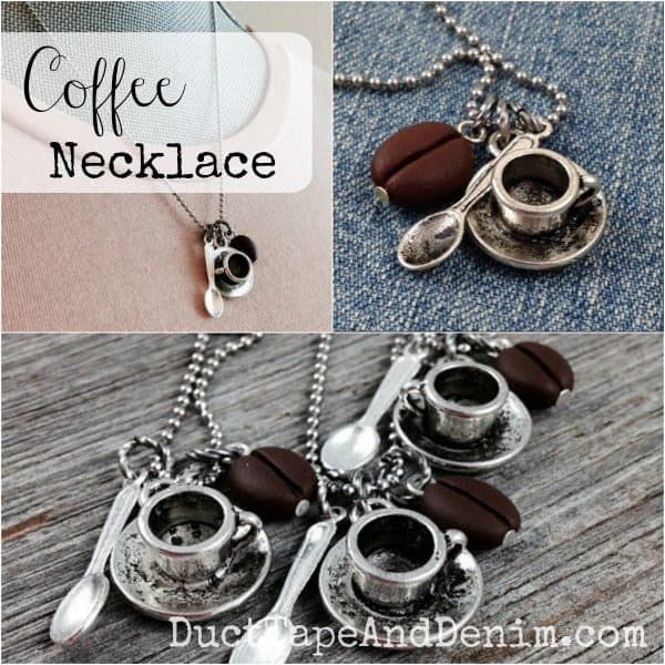2015 Holiday Gift Guide for Women, Coffee Lovers Necklace | DuctTapeAndDenim.com