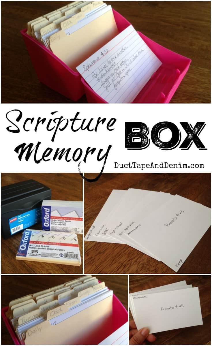 Scripture Memory Box | DuctTapeAndDenim.com