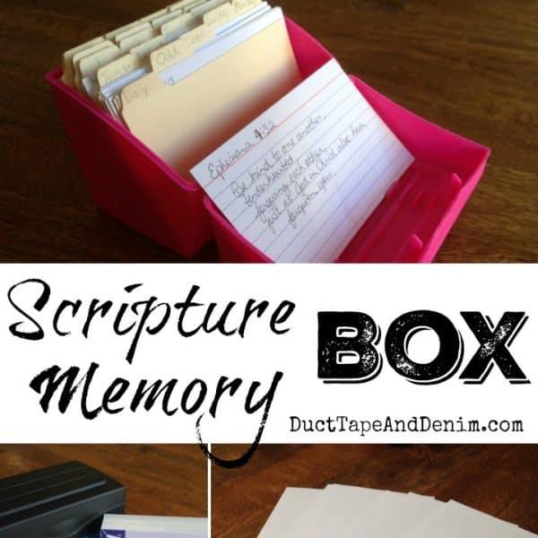 Scripture Memory Box SQUARE | DuctTapeAndDenim.com