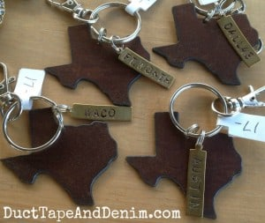Texas cities -- Dallas, Fort Worth, Waco, Austin, and more. Can be personalized for your city or hometown. | DuctTapeAndDenim.com