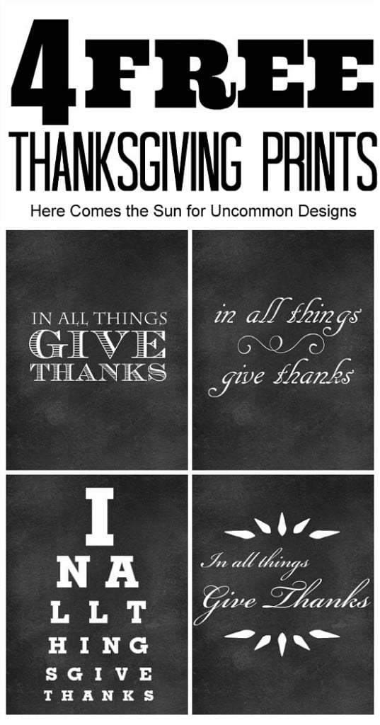 Chalkboard quotes, one of my 25 favorite FREE Thanksgiving printables on DuctTapeAndDenim.com