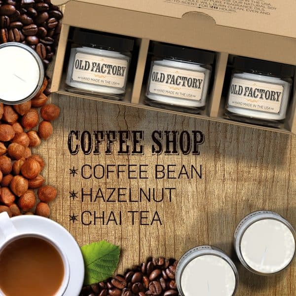 Gift Guide for Coffee Lovers, scented candles. More gift ideas for coffee lovers on DuctTapeAndDenim.com