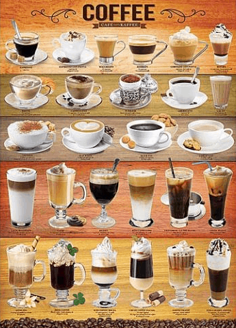 Gift ideas for coffee lovers, 1000 piece coffee puzzle. More ideas on DuctTapeAndDenim.com