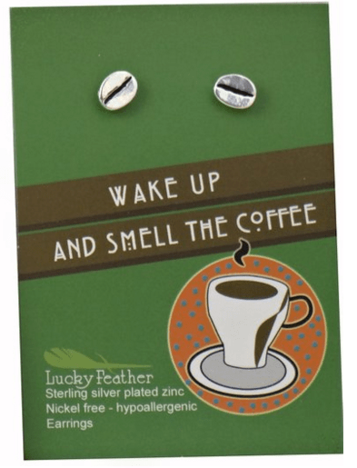 Gift guide for coffee lovers, coffee bean earrings. More gift ideas for coffee lovers on DuctTapeAndDenim.com