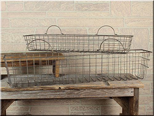 Farmhouse Storage Ideas, long wire basket | DuctTapeAndDenim.com