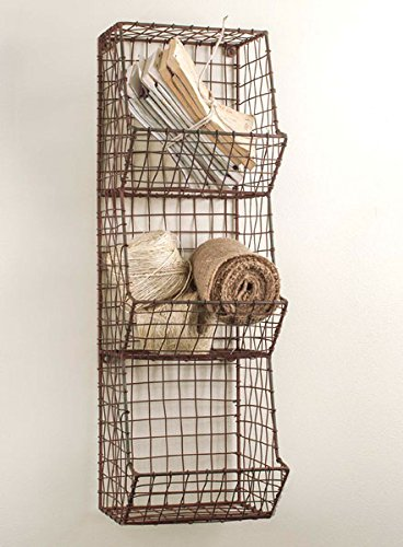 Farmhouse storage ideas, multi bin wire storage unit | DuctTapeAndDenim.com