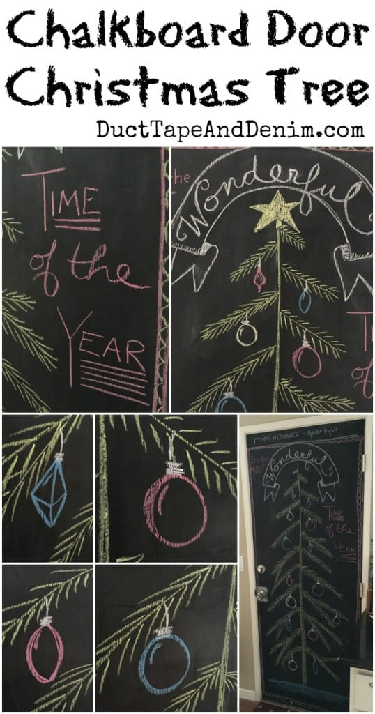 Chalkboard Christmas Tree Door