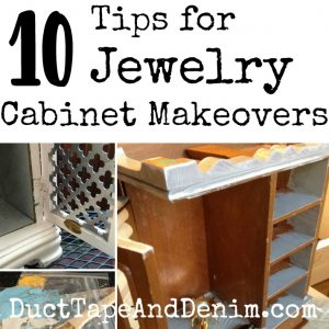 10 Top Tips for Jewelry Cabinet Makeovers | DuctTapeAndDenim.com