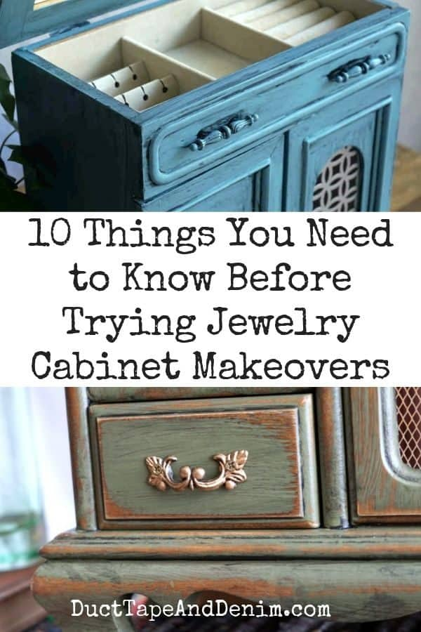 10 things you need to know before trying jewelry cabinet makeovers, collage