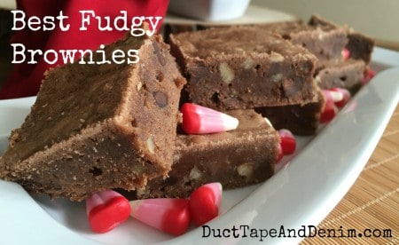 Best Fudgy Brownies recipe on DuctTapeAndDenim.com
