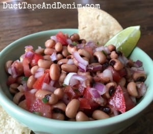 Black Eyed Pea Salsa Dip Recipe, sometimes known as Texas or Cowboy Caviar | DuctTapeAndDenim.com