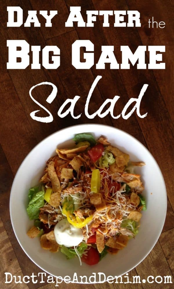 Buffalo Chicken Salad, aka Day After the BIG Game Salad with leftovers from our football party | DuctTapeAndDenim.com