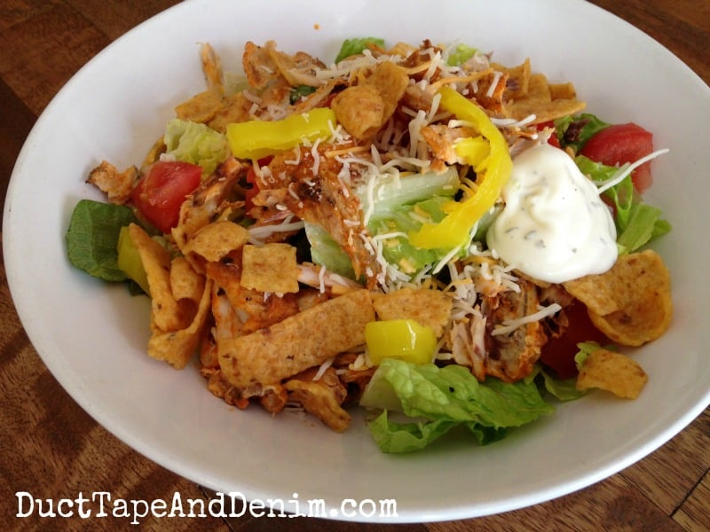 Buffalo Chicken Salad, aka Day After the Big Game Salad