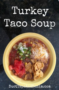 Turkey taco soup recipe | DuctTapeAndDenim.com