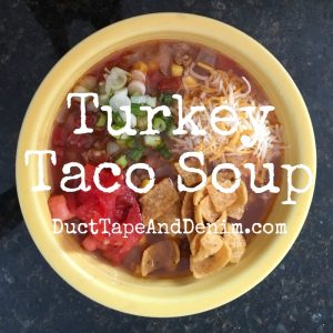 Turkey taco soup recipe SQUARE | DuctTapeAndDenim.com