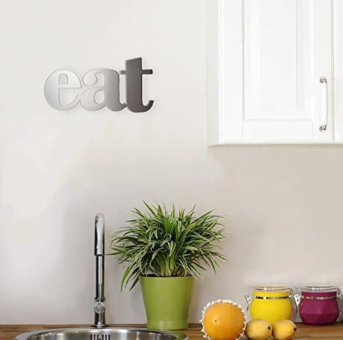 EAT metal kitchen wall decor sign for your farmhouse kitchen ~ gift guide for Fixer Upper fans ~ DuctTapeAndDenim.com
