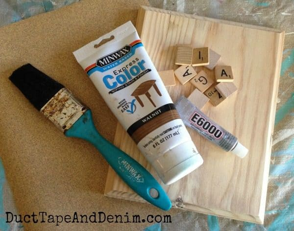 Amazing Grace Scrabble Plaque - More super simple Easter DIY projects on DuctTapeAndDenim.com
