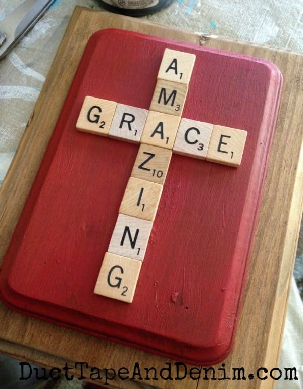 Amazing Grace Scrabble Tile Plaque