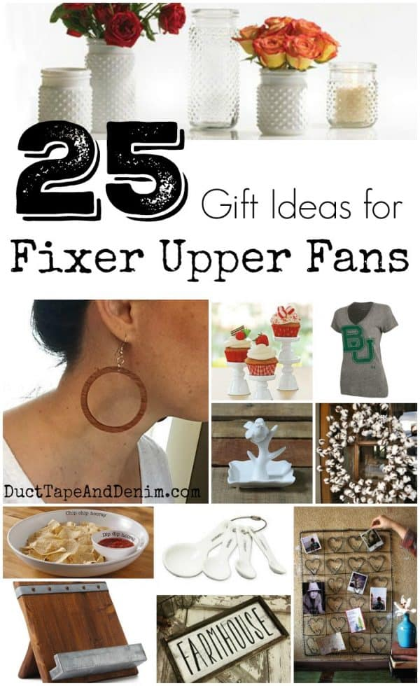 25 Gift Ideas for Fixer Upper Fans ~ farmhouse gift guide ~ DuctTapeAndDenim.com
