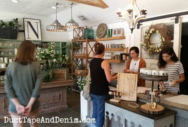 Checking out at Magnolia Market in Waco, Texas ~ Magnolia Market Road Trip | DuctTapeAndDenim.com