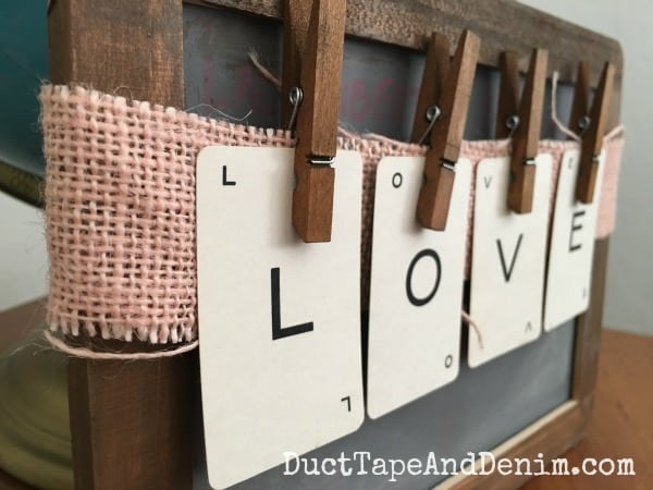 Close up, LOVE with vintage playing cards | DuctTapeAndDenim.com