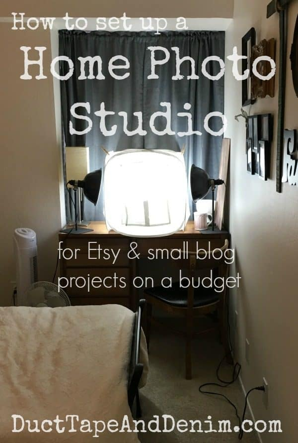 How to set up a home photo studio for Etsy and small blog projects on a budget | DuctTapeAndDenim.com