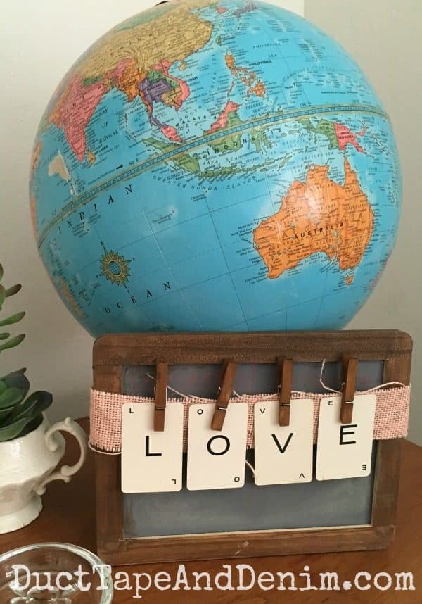 Love makes the world go round! | DuctTapeAndDenim.com