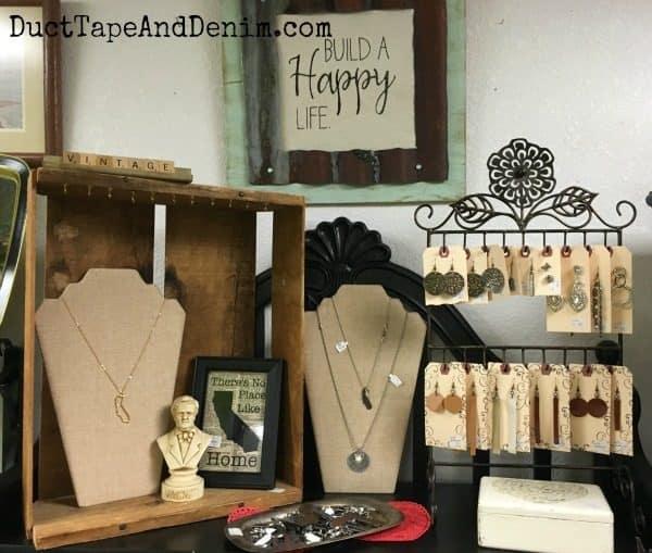 My top shelf at Paris Flea Market. See more photos on DuctTapeAndDenim.com