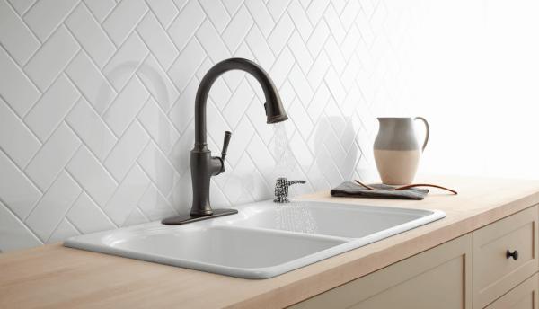 Kohler faucet from Lowes | DuctTapeAndDenim.com