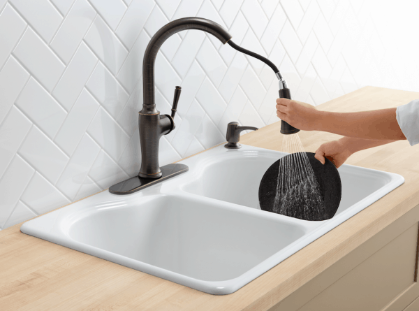 Kohler faucet available at Lowes | DuctTapeAndDenim.com