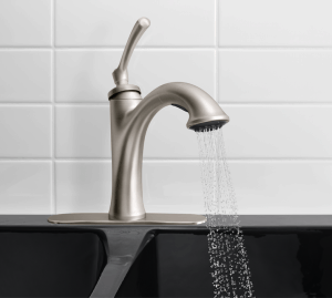 Ellison kitchen faucet by Kohler available at Lowes | DuctTapeAndDenim.com
