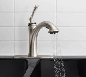 Ellison kitchen faucet by Kohler available at Lowes | DuctTapeAndDenim.com