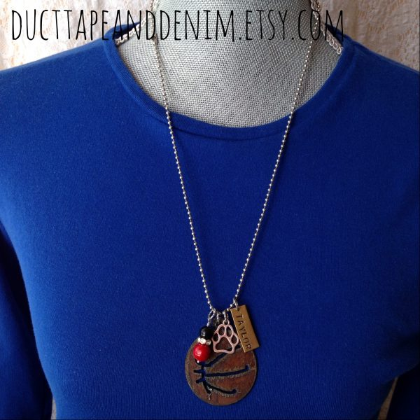 I Love Basketball Necklaces ~ DuctTapeAndDenim.com