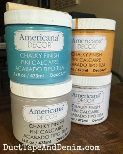 Americana Decor Chalky Finish, used on several of my jewelry boxes | DuctTapeAndDenim.com