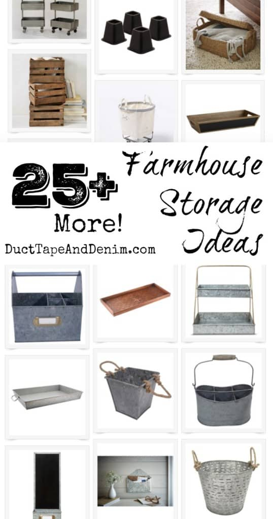 25+ more farmhouse storage ideas from DuctTapeAndDenim.com