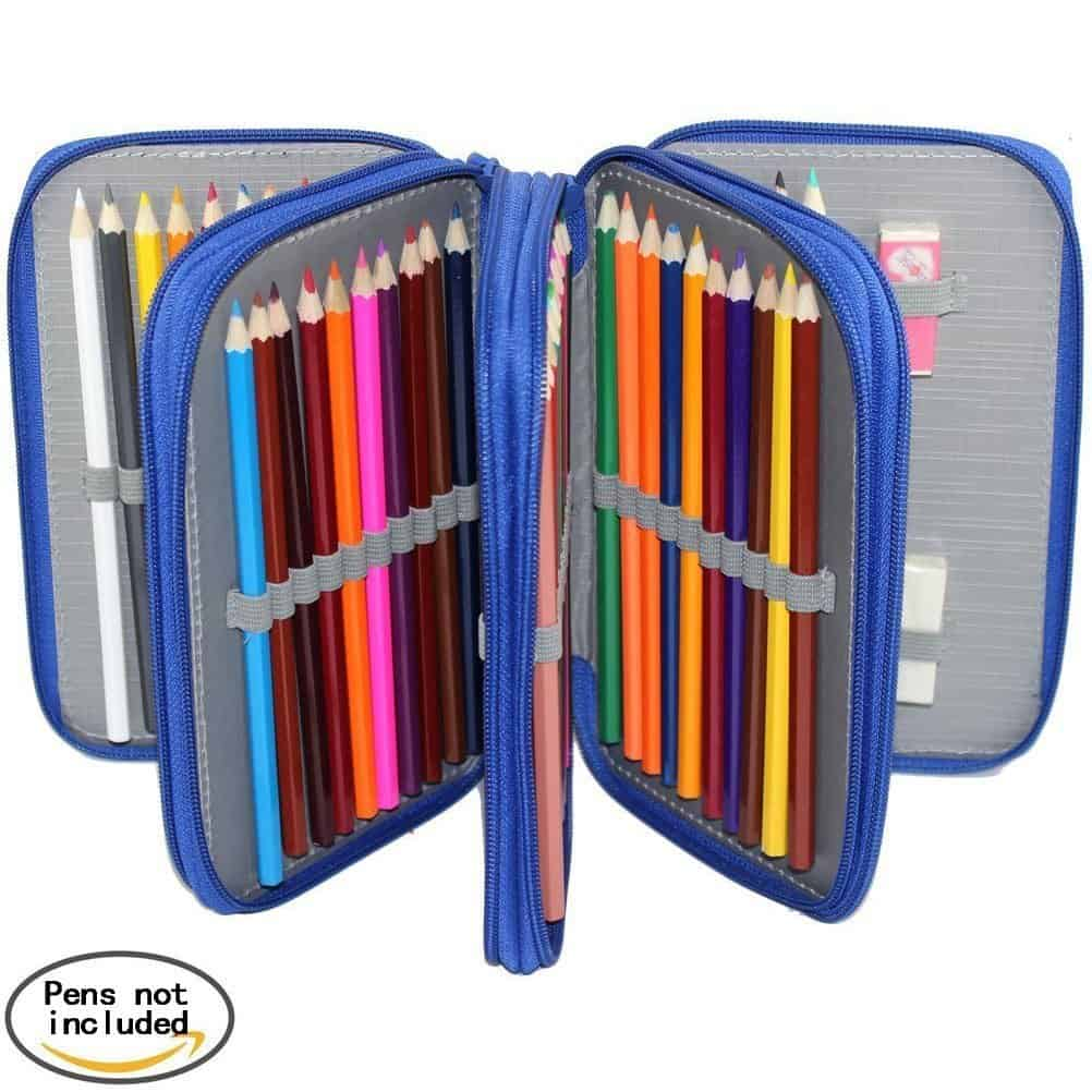 pencil case coloring pages - colored pencil case free adult coloring pages on
