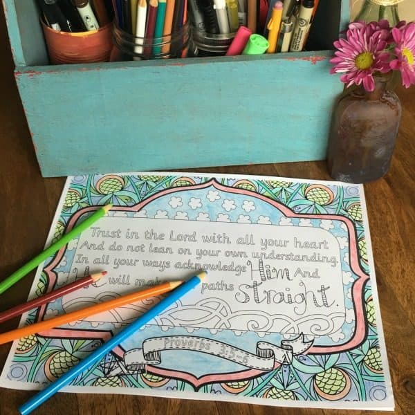 Proverbs 4:5-6 is my favorite Bible verse! This and more FREE Scripture adult coloring pages on DuctTapeAndDenim.com ~ Create your own adult coloring book!