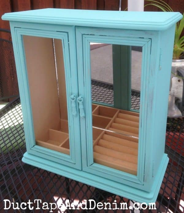 After two coats of homemade chalk paint... not finished yet! Celebrate National Craft Month with DuctTapeAndDenim.com