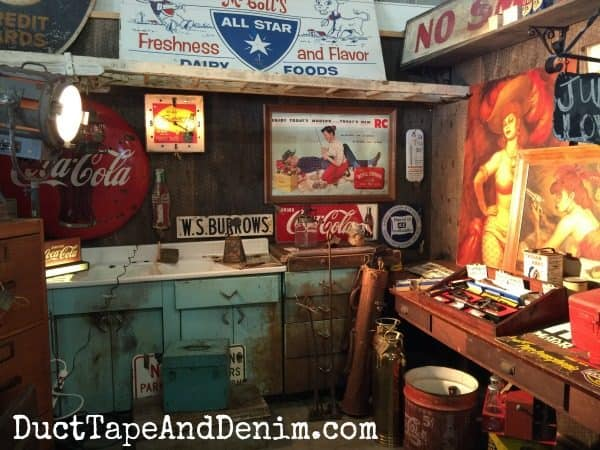 Amazing flea market display in booths at Roses and Rust Vintage Flea Market | DuctTapeAndDenim.com