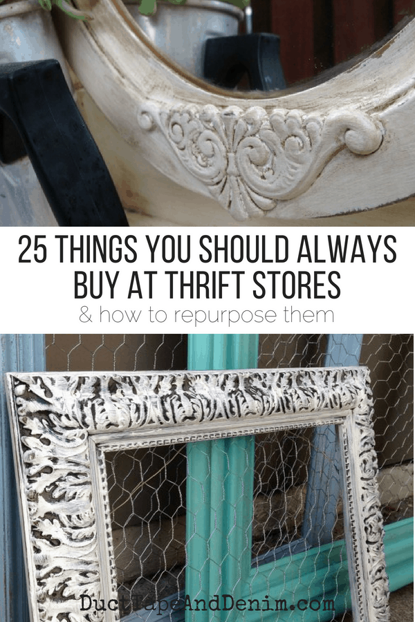 25 Things You Should Always Buy at Thrift Stores | DuctTapeAndDenim.com
