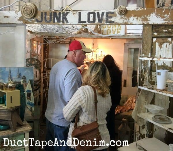 Junk Love booth at Roses and Rust Vintage Market | DuctTapeAndDenim.com