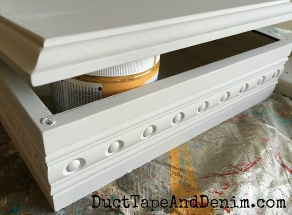 Painted jewelry box from thrift store | DuctTapeAndDenim.com