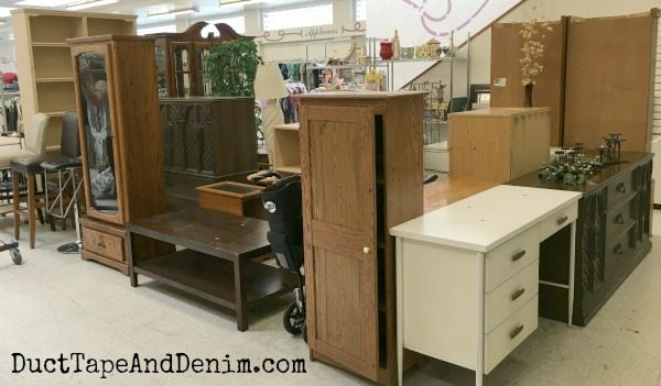 Thrift store furniture | DuctTapeAndDenim.com
