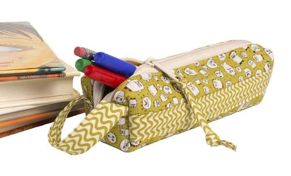 Scrappy pencil case, DIY sewing project