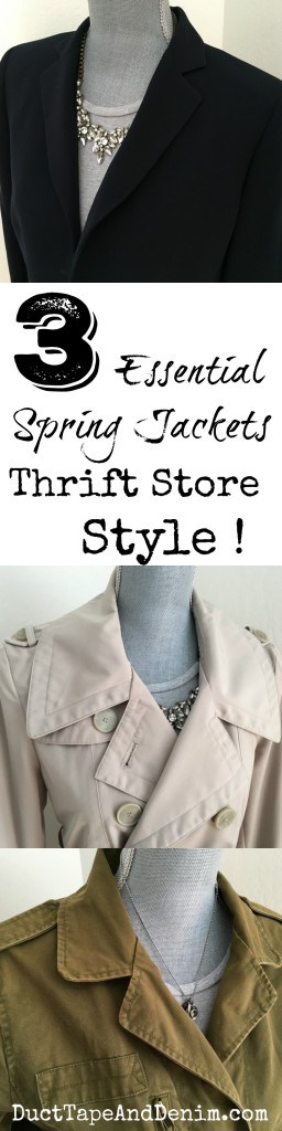 3 Essential Spring Jackets, Thrift Store Style, DuctTapeAndDenim.com
