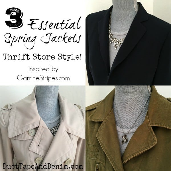 3 Essential spring jackets ~ thrift store style ~ DuctTapeAndDenim.com