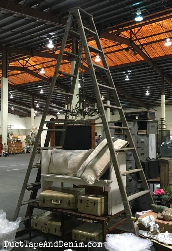 Huge ladder at Junk Bonanza | DuctTapeAndDenim.com